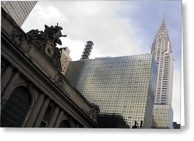 Grand Central And The Chrysler Building Greeting Card
