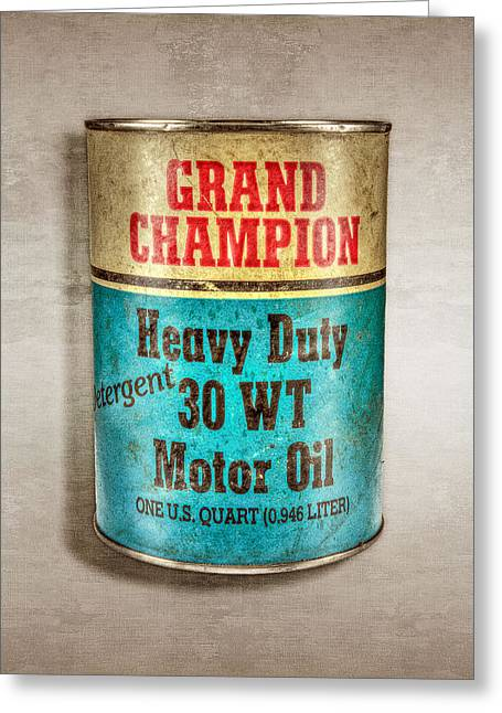 Grand Champion Motor Oil Greeting Card by YoPedro