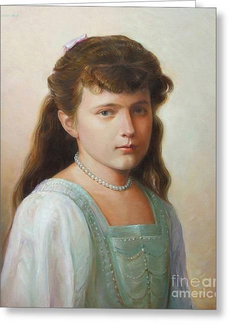 Grand Duchess Anastasia Nikolaevna Of Russia Greeting Card by George Alexander