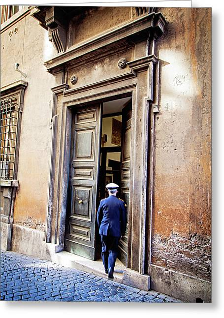 Grand Entrance - Rome, Italy Greeting Card