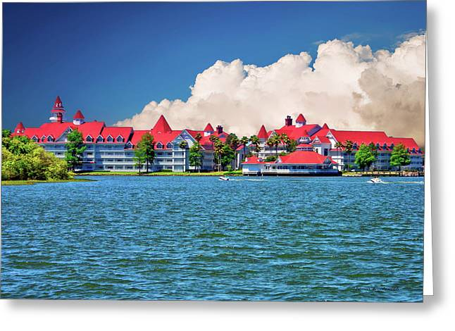 Grand Floridian Resort And Spa Greeting Card