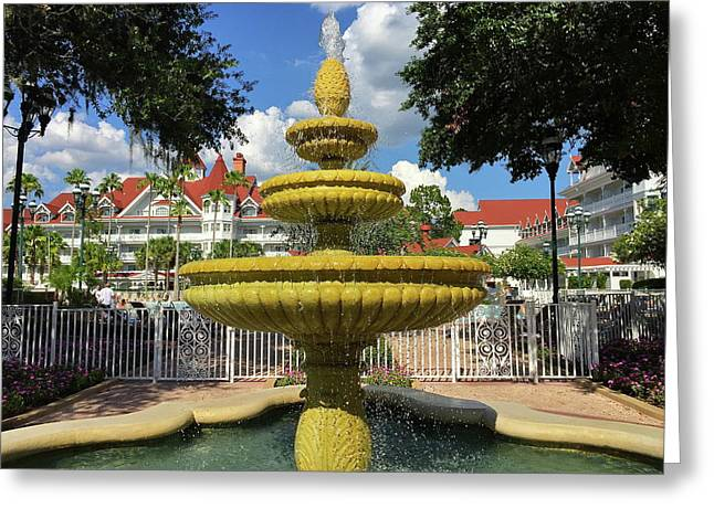 Grand Floridian Water Fountain Greeting Card