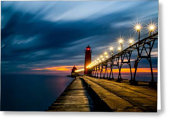Grand Haven Lighthouse Greeting Card