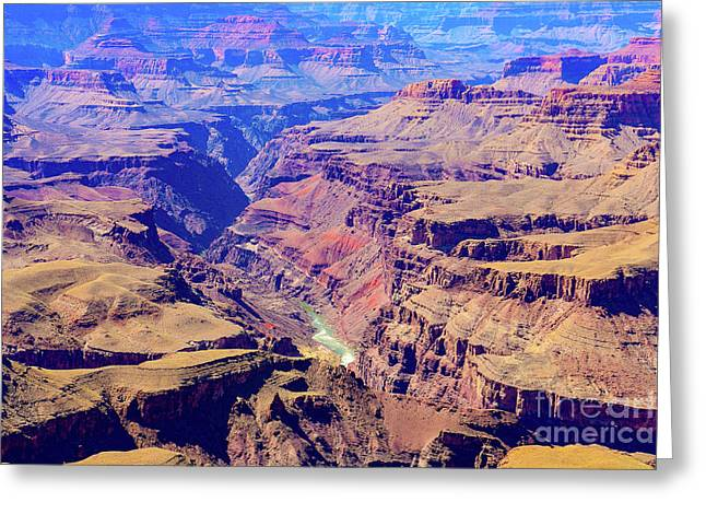 Grand Haze Canyon Greeting Card