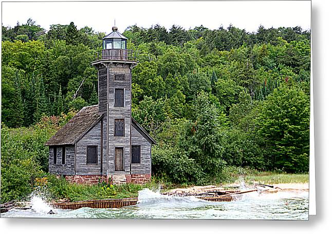 Grand Island East Channel Lighthouse #6680 Greeting Card by Mark J Seefeldt