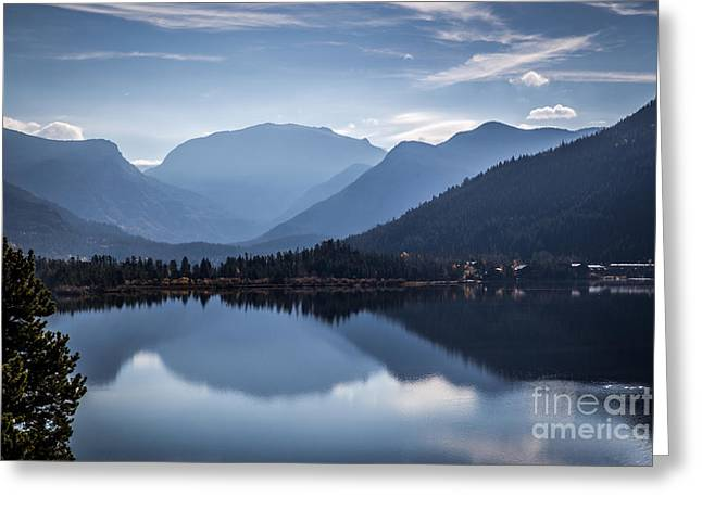 Grand Lake Reflections Greeting Card by Lynn Sprowl