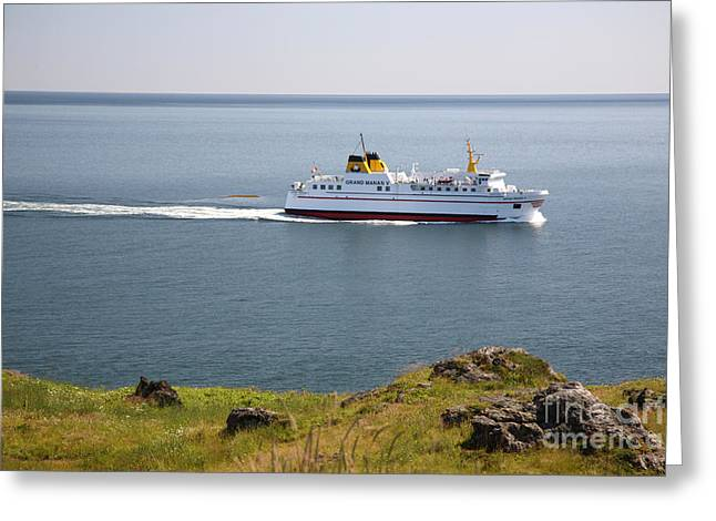 Grand Manan Ferry Greeting Card by Ted Kinsman