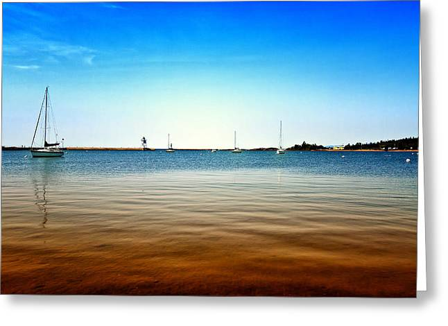 Grand Marais Harbor Greeting Card