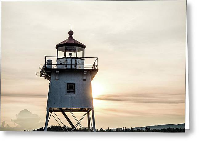 Greeting Card featuring the photograph Grand Marais Lighthouse by Whitney Leigh Carlson