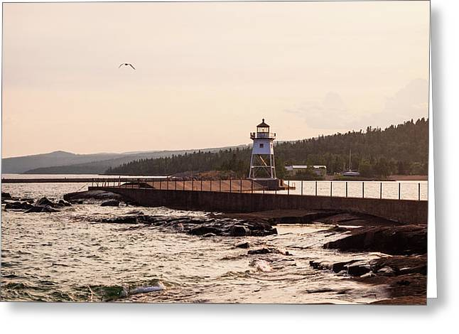 Greeting Card featuring the photograph Grand Marais Shore by Whitney Leigh Carlson