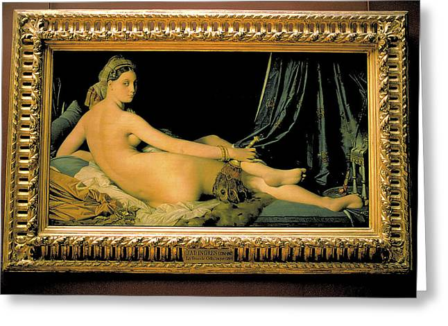 Grand Odalisque At Louvre Greeting Card by Carl Purcell