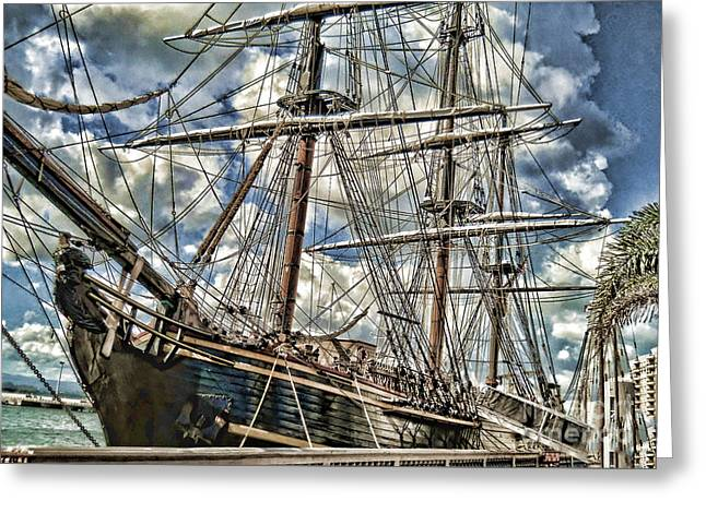 Greeting Card featuring the photograph Grand Old Sailing Ship by Roberta Byram