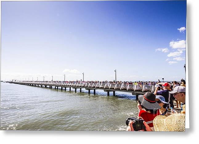 Grand Opening Event. Shorncliffe Pier 2016 Greeting Card
