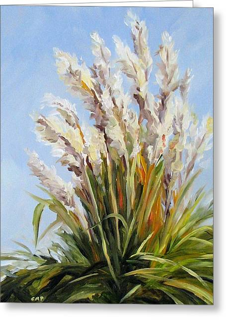 Grand Pampas Greeting Card by Cheryl Pass