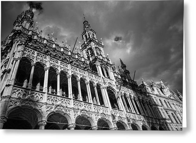Grand Place Mono 2 Greeting Card by Chris Fletcher