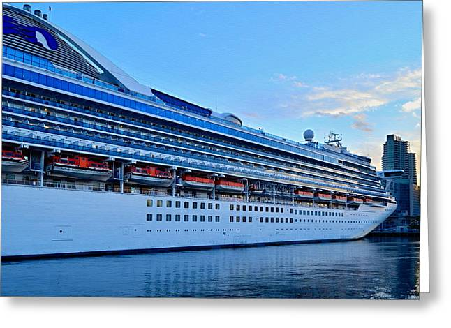 Grand Princess San Diego Greeting Card by See My  Photos