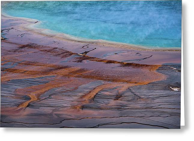 Grand Prismatic Spring Detail Greeting Card