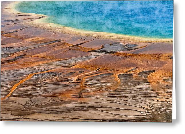 Greeting Card featuring the photograph Grand Prismatic Spring by Ken Barrett