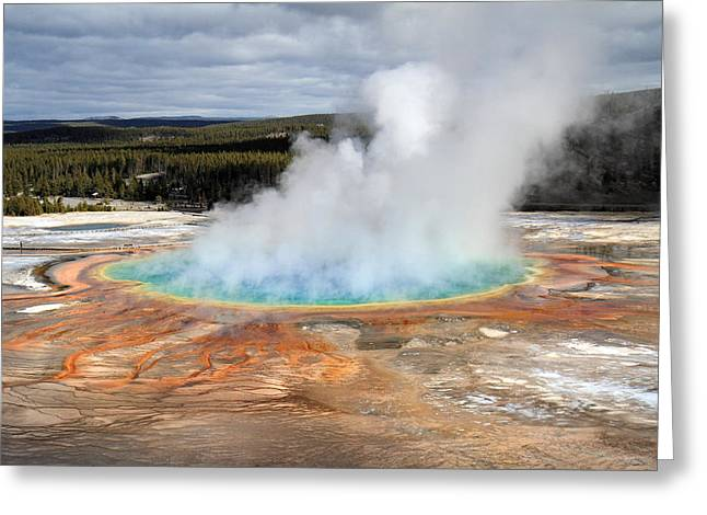 Grand Prismatic Springs In Yellowstone National Park Greeting Card
