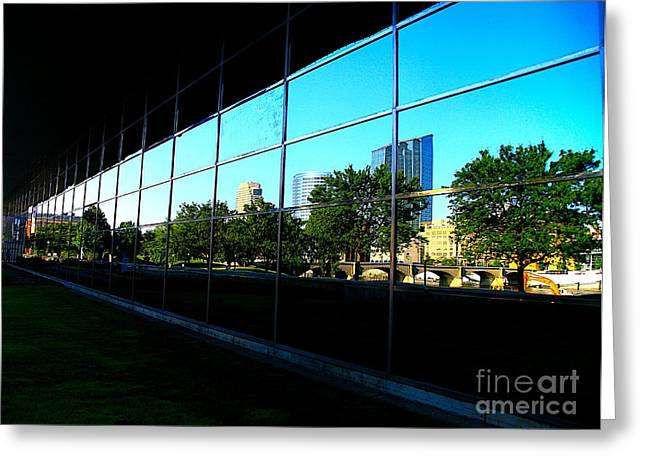 Grand Rapids Mi On Glass-12 Greeting Card by Robert Pearson