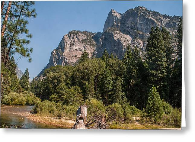 Grand Sentinel Zumalt Meadow Kings Canyon National Park Greeting Card