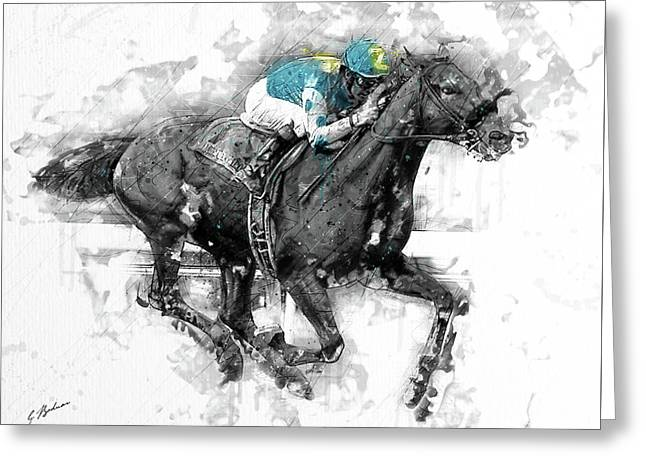 American Pharoah Grand Slam 15 Greeting Card