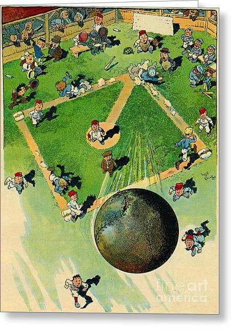 Grand-slam Homerun 1913 Greeting Card by Padre Art