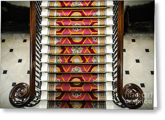 Grand Staircase In Dublin Castle Greeting Card by RicardMN Photography