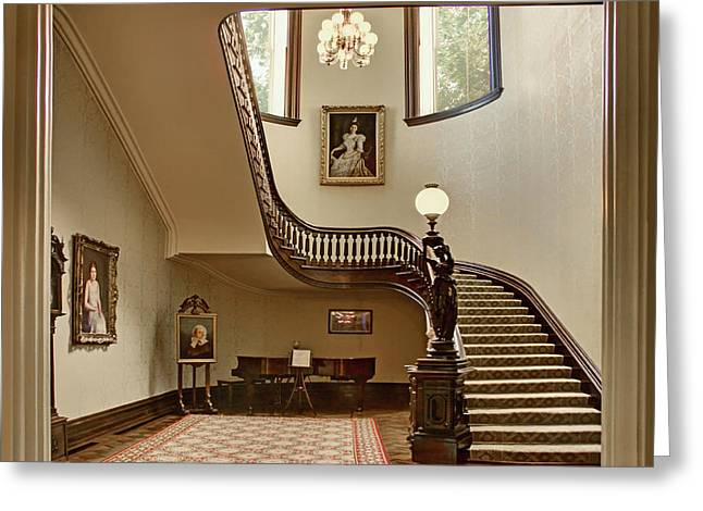 Grand Stairway - Governor's Mansion - Missouri Greeting Card