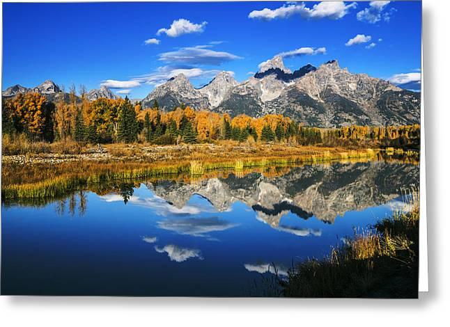 Grand Teton Autumn Beauty Greeting Card by Vishwanath Bhat