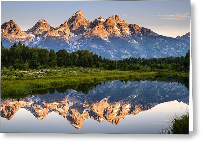Grand Teton Awakening Greeting Card