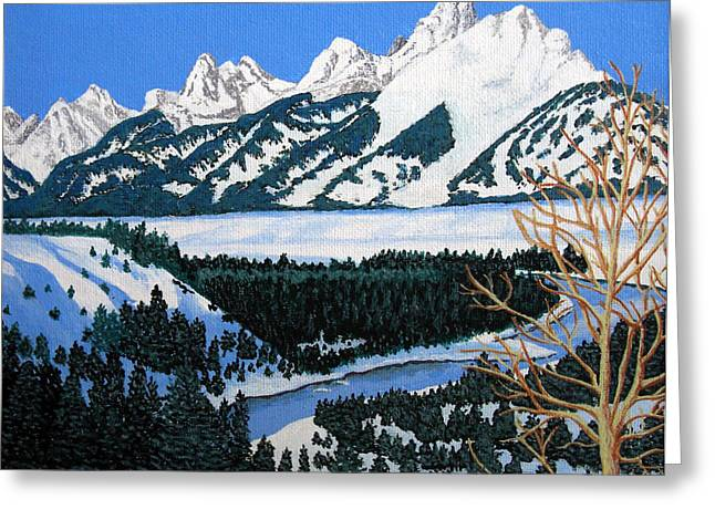 Grand Teton Greeting Card by Frederic Kohli