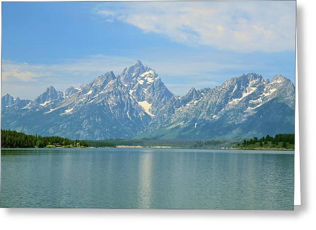 Grand Teton Over Jackson Lake Greeting Card