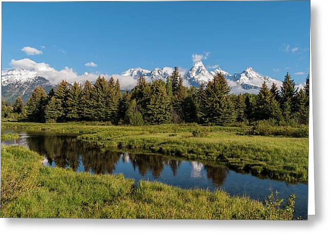 Grand Teton Reflection Greeting Card by Brian Harig