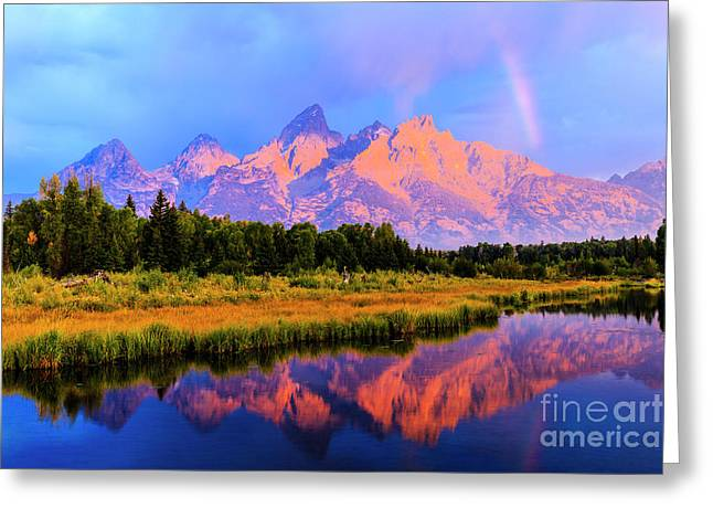 Grand Teton Sunrise Greeting Card
