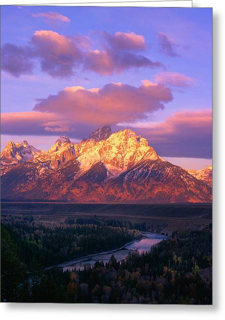Grand Teton Sunrise Greeting Card