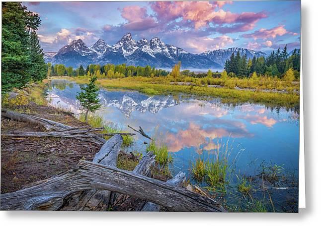 Grand Teton Sunrise Reflection Greeting Card