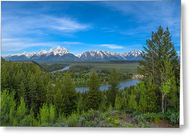 Grand Teton Vista Greeting Card by Darren  White