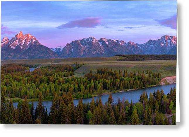 Grand Tetons Greeting Card by Chad Dutson