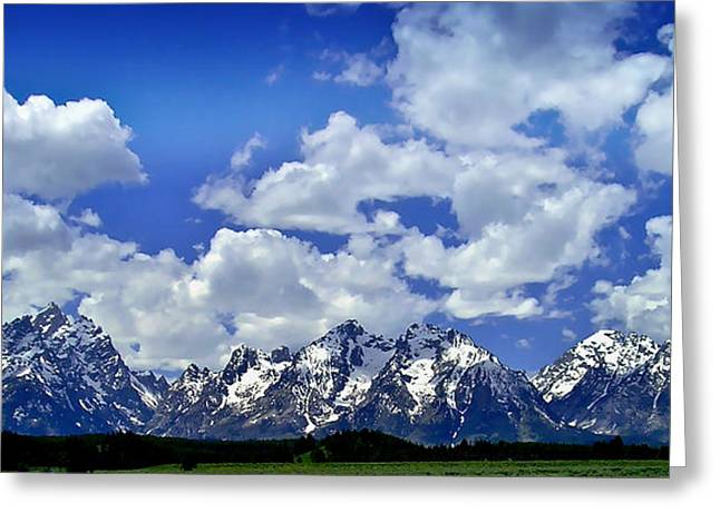 Grand Tetons Greeting Card by Ellen Heaverlo