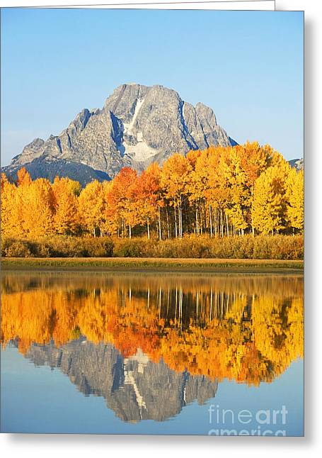 Grand Tetons In Autumn 2 Greeting Card by Ron Dahlquist - Printscapes