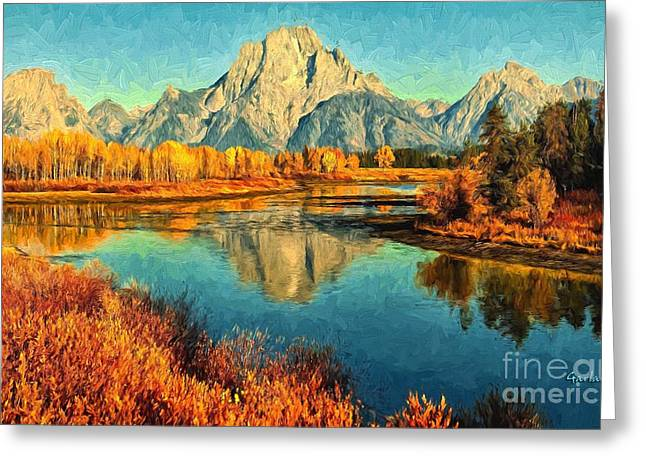 Grand Tetons Late Fall  Greeting Card by Garland Johnson