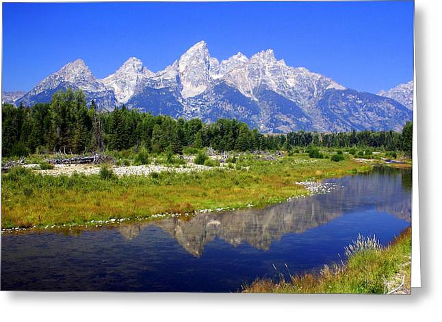 Grand Tetons Greeting Card by Marty Koch