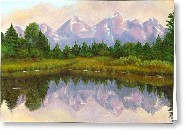 Grand Tetons Greeting Card by Merle Blair