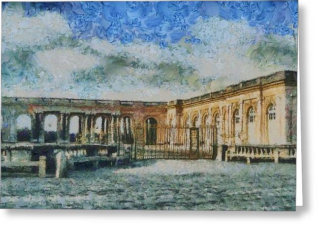 Chateau Greeting Cards - Grand Trianon Greeting Card by Aaron Stokes