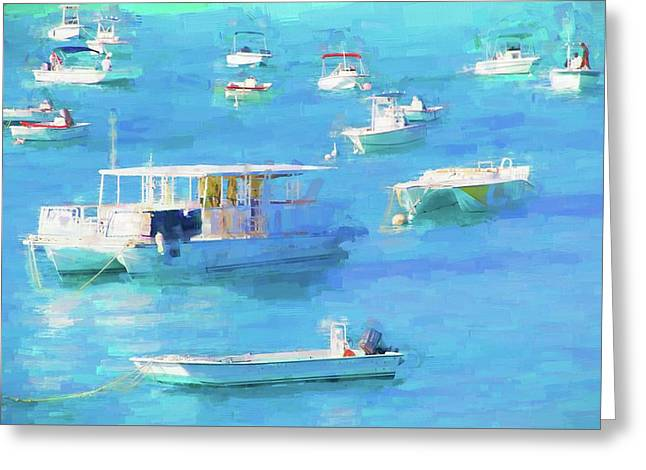 Grand Turk Island Boats Greeting Card by Alice Gipson