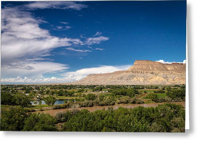 Grand Valley And Colorado River Greeting Card by Teri Virbickis