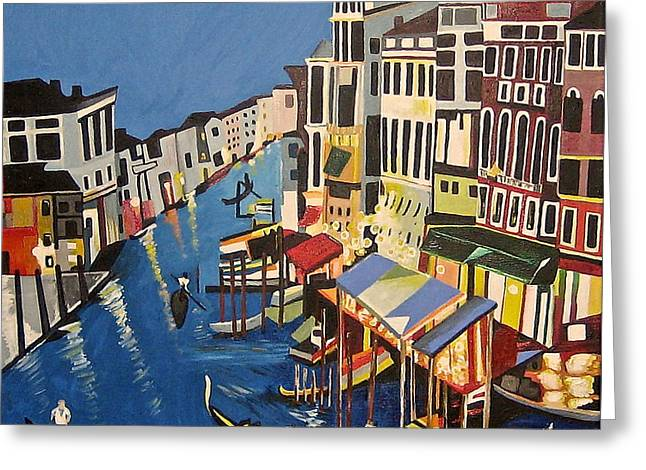 Grande Canal Greeting Card by Donna Blossom