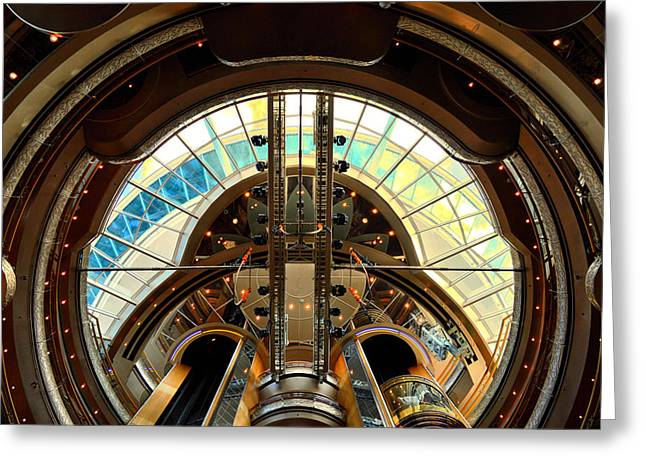 Grandeur Of The Seas Gold Centrum Greeting Card