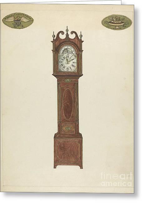 Grandfather Clock Greeting Card